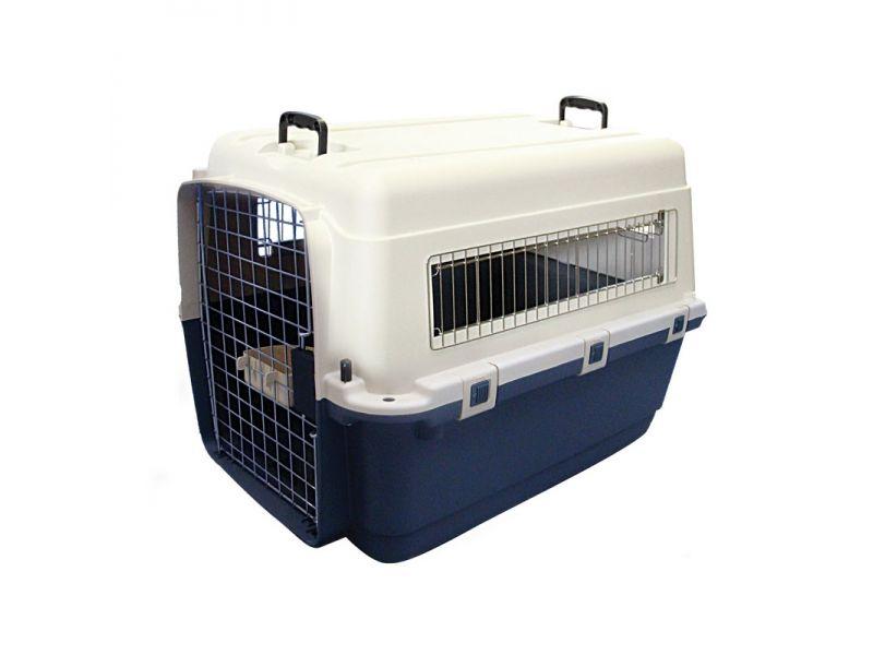 Triol Переноска пластиковая для животных Premium LARGE, БЕЗ КОЛЕС, для АВИАПЕРЕВОЗОК (5107), 80*56*59 см  - Фото