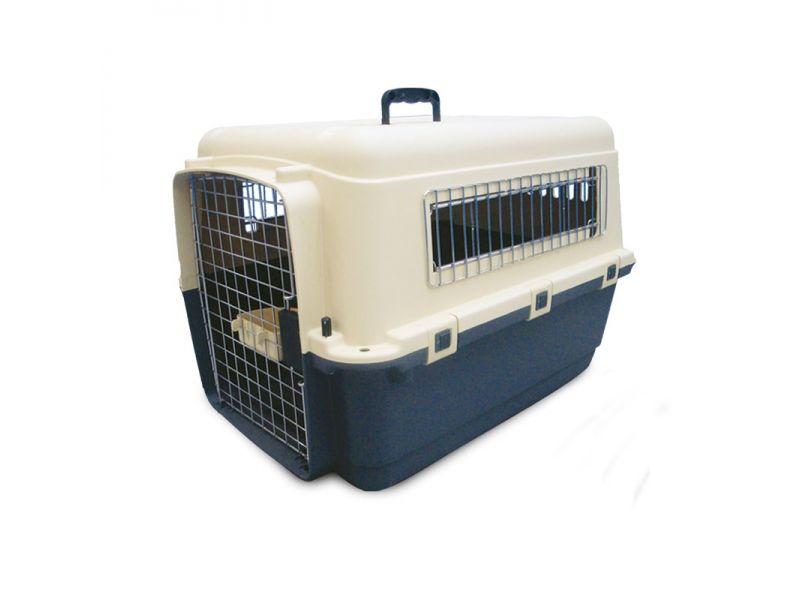 Triol Переноска пластиковая для животных Premium MEDIUM, БЕЗ КОЛЕС, для АВИАПЕРЕВОЗОК (5105), 67,5*51*47 см  - Фото