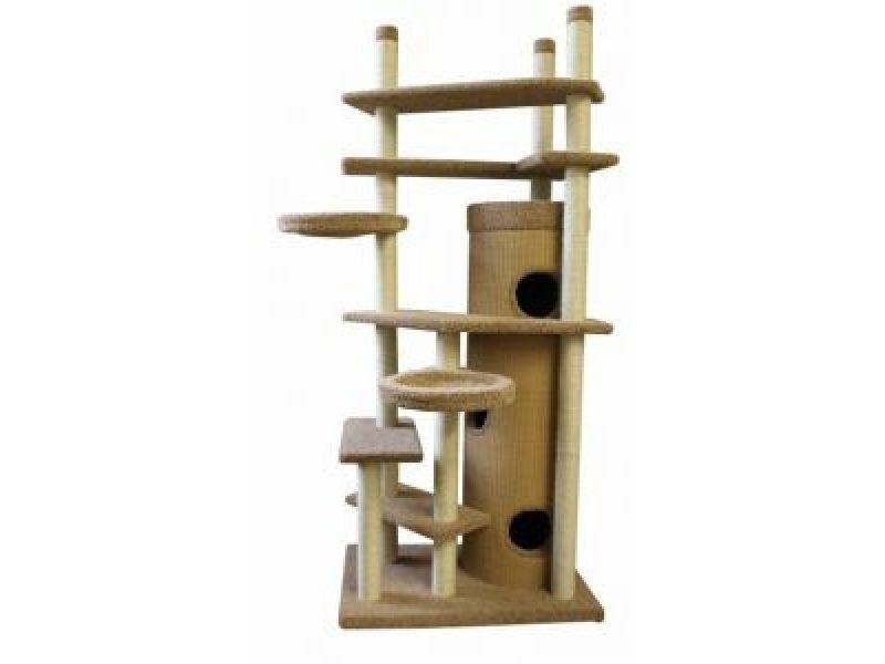 """Пушок Комплекс ковролиновый для кошек """"Мурляша"""" с упором в потолок, 70*90 см   - Фото"""
