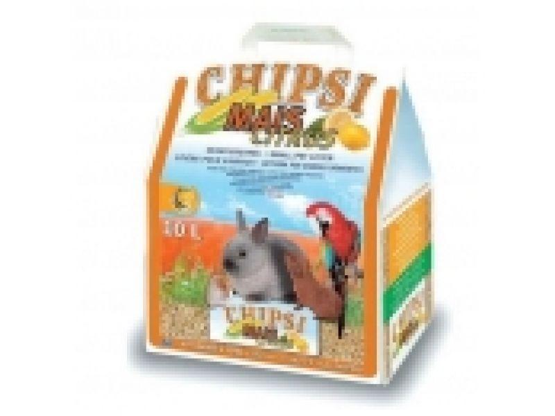 Кукурузный наполнитель Cat's Best Chipsi Mais Citrus, 10л - Фото