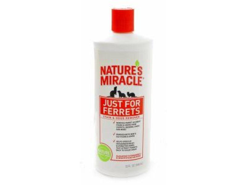 Nature's Miracle Уничтожитель пятен и запахов, оставленных хорьками (Ferrets Stain & Odor Remover), 950 мл - Фото