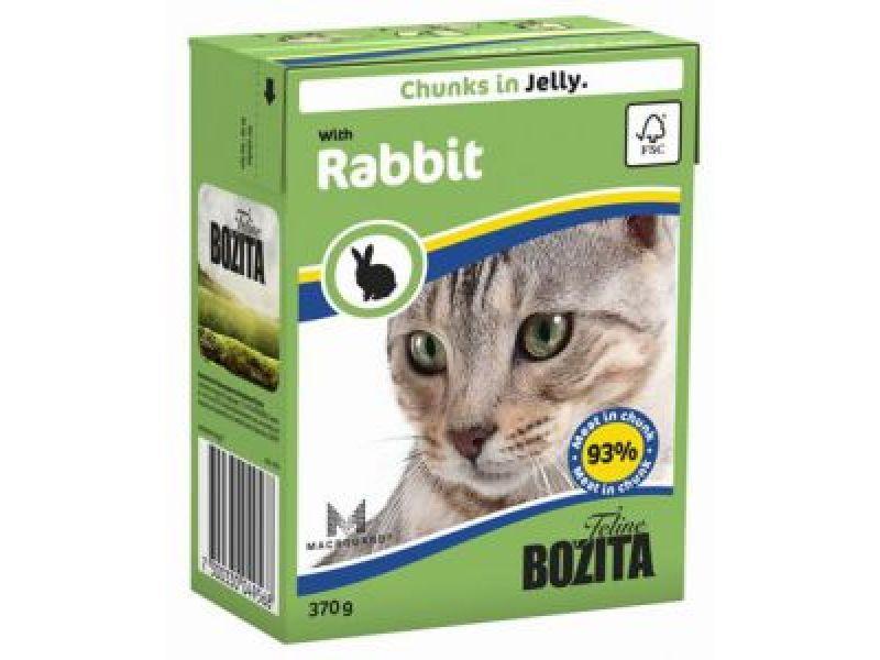 Bozita Feline Кусочки в ЖЕЛЕ с КРОЛИКОМ (Rabbit), для кошек, 370 гр    - Фото