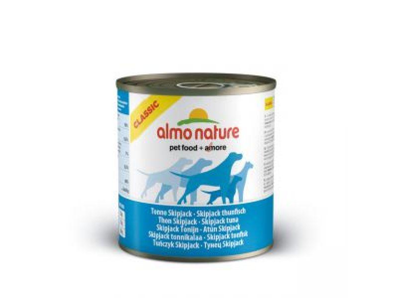 Влажный корм (консервы) Almo Nature: ПОЛОСАТЫЙ ТУНЕЦ для собак (Classic Skip Jack Tuna) - Фото