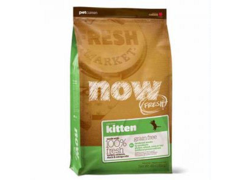 NEW Сухой корм NOW Natural holistic БЕЗЗЕРНОВОЙ с индейкой, уткой и овощами для КОТЯТ (Fresh Grain Free Kitten Recipe) - Фото