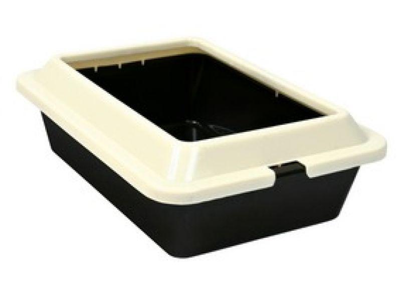 Туалет Trixie пластиковый с рамкой для кошек и котят (4041), 37*27*12 см  - Фото