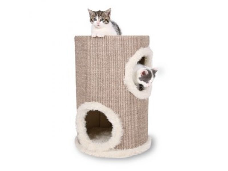"Trixie Домик для кошки меховой ""Башня"" (4331), 33*50 см  - Фото"