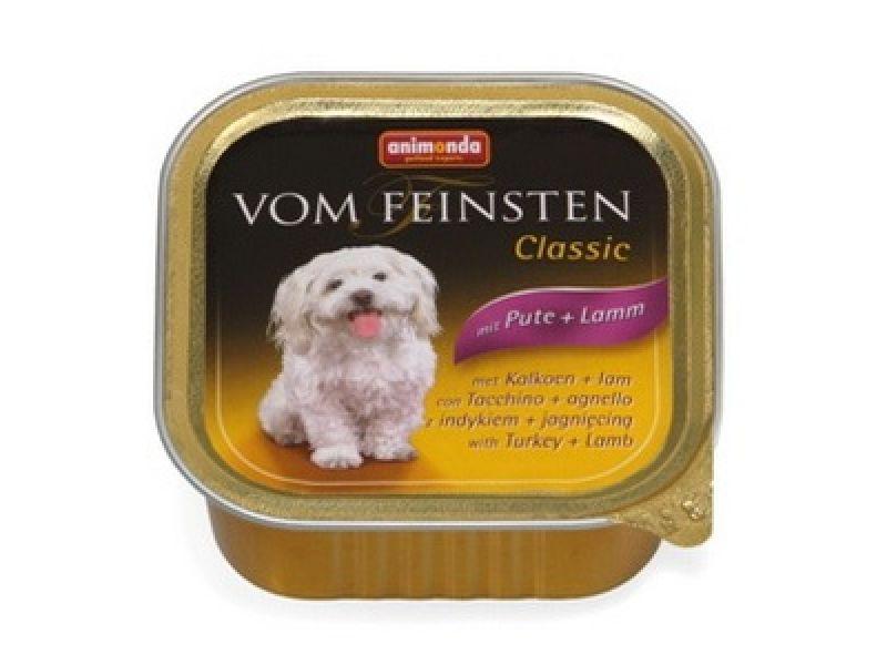 Влажный корм (консервы) Animonda с ИНДЕЙКОЙ и ЯГНЕНКОМ для собак ( Vom Feinsten Classic), 150 г - Фото