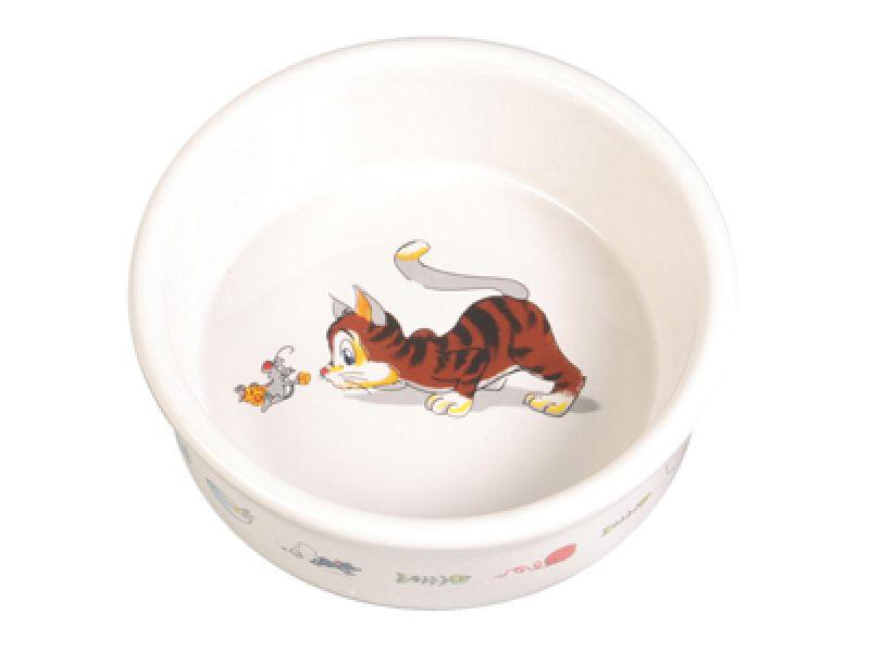Миска Trixie керамическая для кошек (4007), 11,5 см, 200 мл - Фото