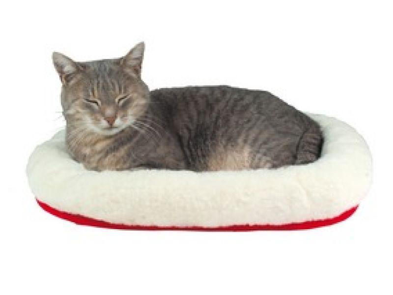 """Лежак меховой с бортиком Trixie для кошек """"Reversible"""" (28631), 45*30 см - Фото"""