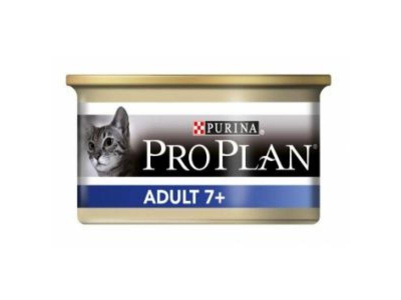 Влажный корм (консервы) Pro Plan с тунцом для ПОЖИЛЫХ кошек (Senior fish), 85 гр    - Фото