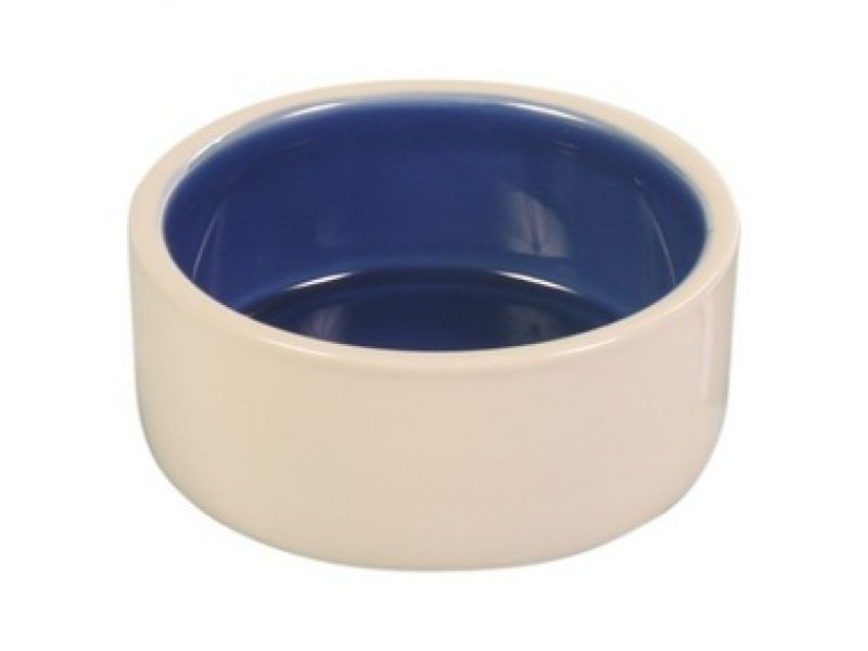 Миска Trixie керамическая бежево-синяя для собак (2450/51/52) - Фото