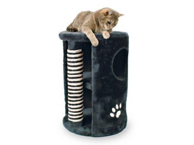 """Trixie Домик с когтеточкой для кошки меховой """"Башня"""" (4336), 41*58 см    - Фото"""