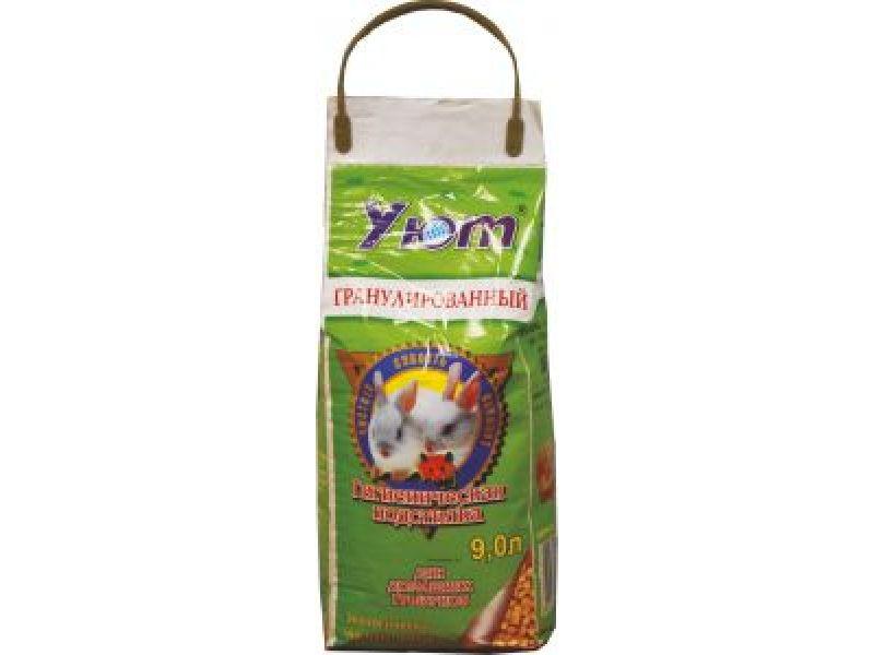 Прессованные гранулированные опилки Уют для грызунов, 1,9 кг - Фото
