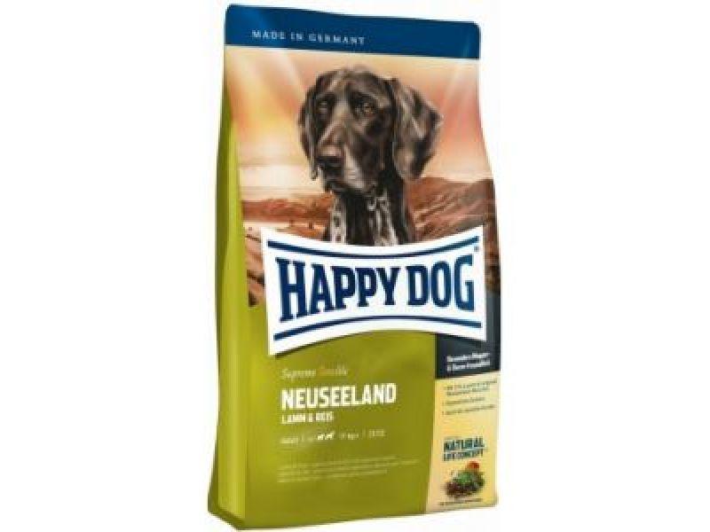 """Сухой корм Happy Dog Supreme """"Новая Зеландия"""" - ЯГНЕНОК + РИС для ЧУВСТВИТЕЛЬНЫХ собак (Neuseeland) - Фото"""