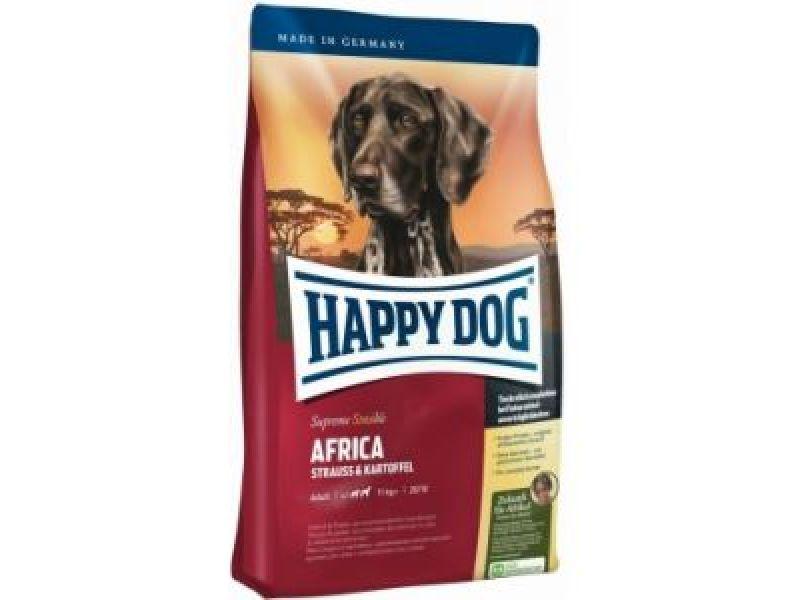 """Сухой корм Happy Dog Supreme """"Африка"""" - БЕЗЗЕРНОВОЙ с мясом СТРАУСА для ЧУВСТВИТЕЛЬНЫХ собак (Africa) - Фото"""