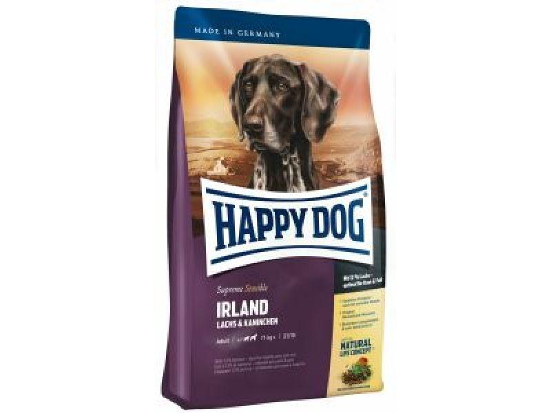 """Сухой корм Happy Dog Supreme """"Ирландия"""" - ЛОСОСЬ + КРОЛИК для ЧУВСТВИТЕЛЬНЫХ собак (Ireland) - Фото"""