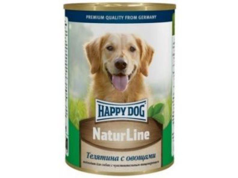 Кусочки в фарше Happy Dog: ТЕЛЯТИНА с ОВОЩАМИ для собак, 400 гр      - Фото