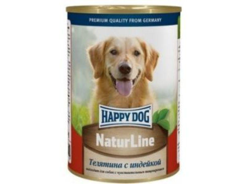 Кусочки в фарше Happy Dog: ТЕЛЯТИНА и ИНДЕЙКА для собак, 400 гр     - Фото