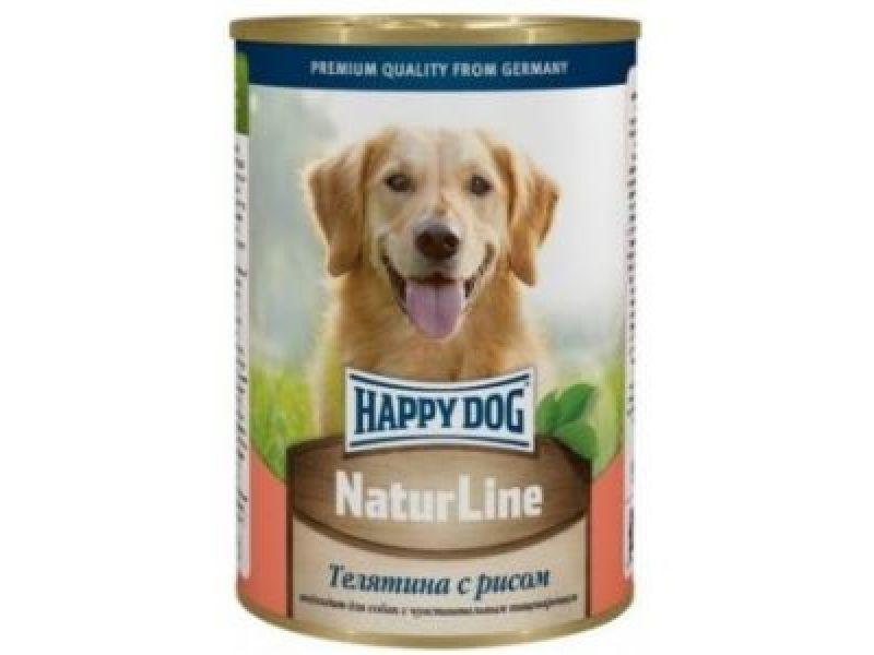 Кусочки в фарше Happy Dog: ТЕЛЯТИНА с РИСОМ для собак, 400 гр      - Фото