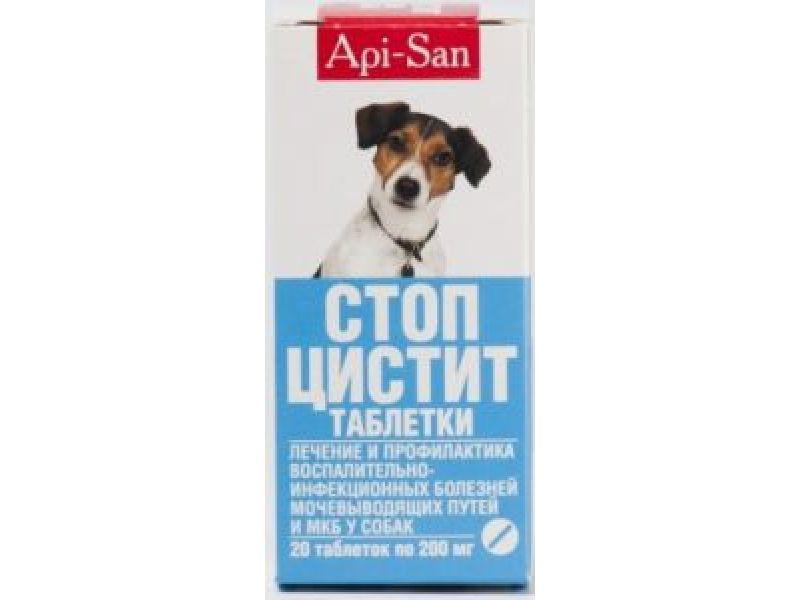 Апи-Сан Таблетки СТОП-ЦИСТИТ - лечение и профилактика МКБ, для собак, 20 шт. 12402