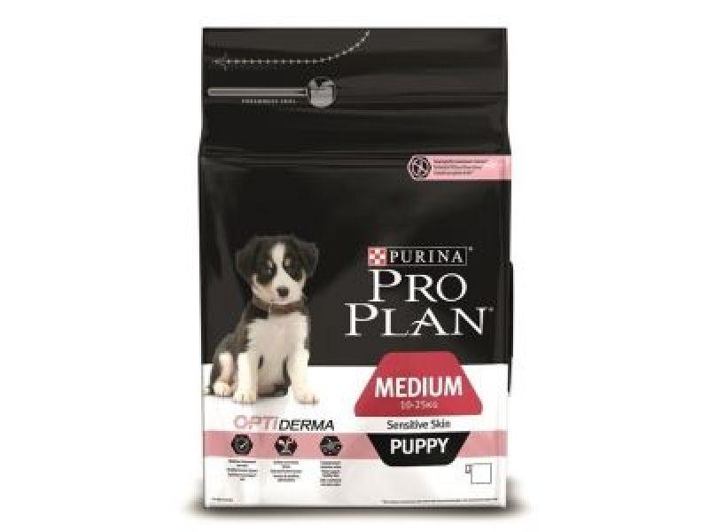 Сухой корм Purina Pro Plan с ЛОСОСЕМ и РИСОМ для щенков СРЕДНИХ пород с чувствительной кожей (Puppy Sensitive) - Фото