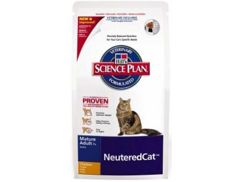 Сухой корм Hill's Science Plan™ для пожилых КАСТРИРОВАННЫХ кошек и котов (Mature Adult) - Фото