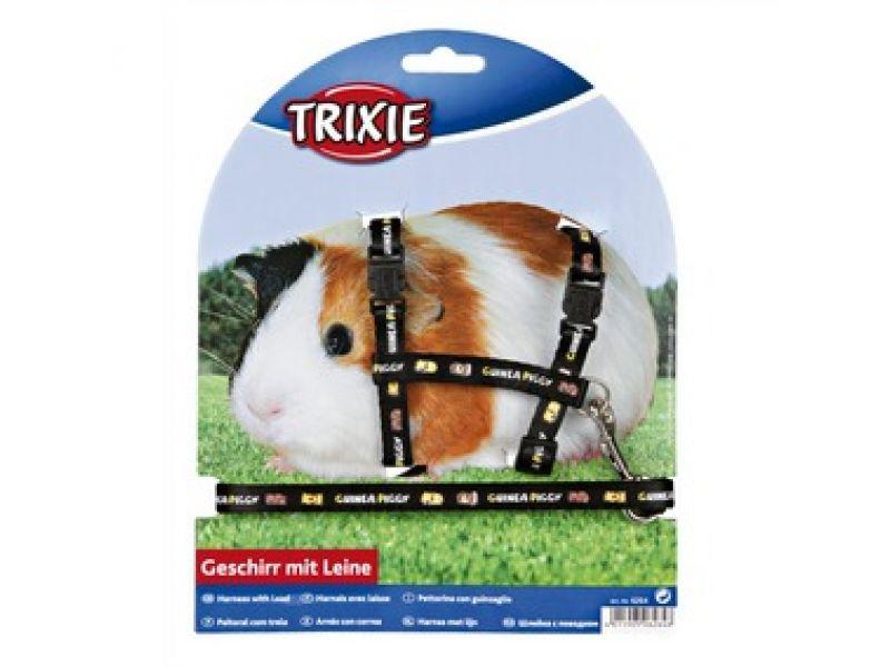 Trixie Шлейка с поводком для морских свинок, с рисунком (6264), 21-35 см/10 мм/1,25 м   - Фото