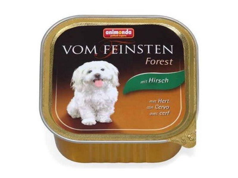 Влажный корм (консервы) Animonda с мясом ОЛЕНЯ для собак (Vom Feinsten Forest), 150 г  - Фото