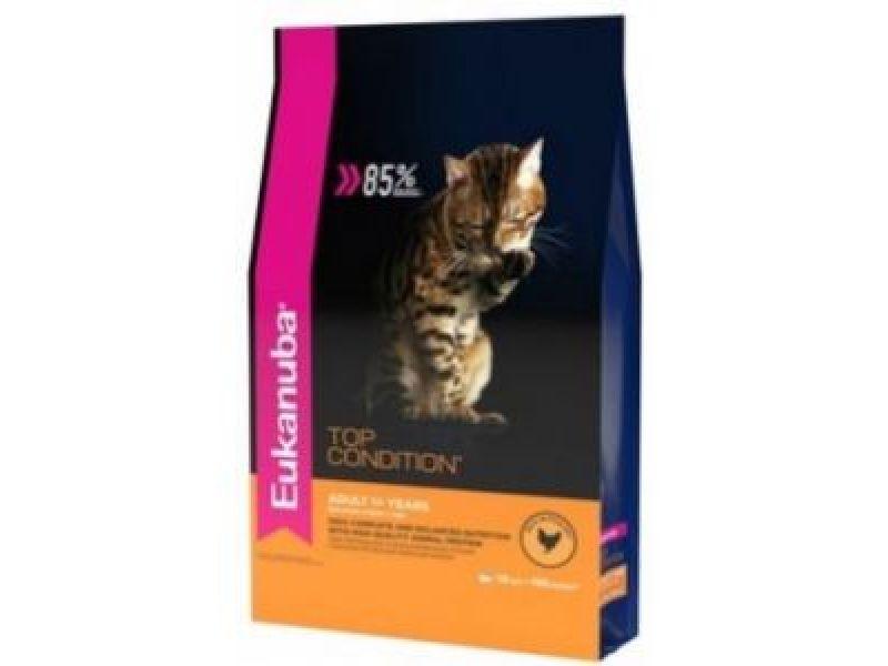 Сухой корм Eukanuba с КУРИЦЕЙ для кошек (Adult Top Condition) - Фото