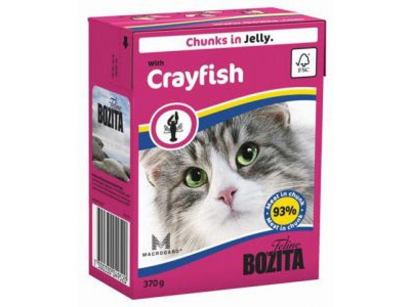 Bozita Feline Кусочки в ЖЕЛЕ с ЛАНГУСТОМ (with Crayfish), для кошек, 370 гр   - Фото
