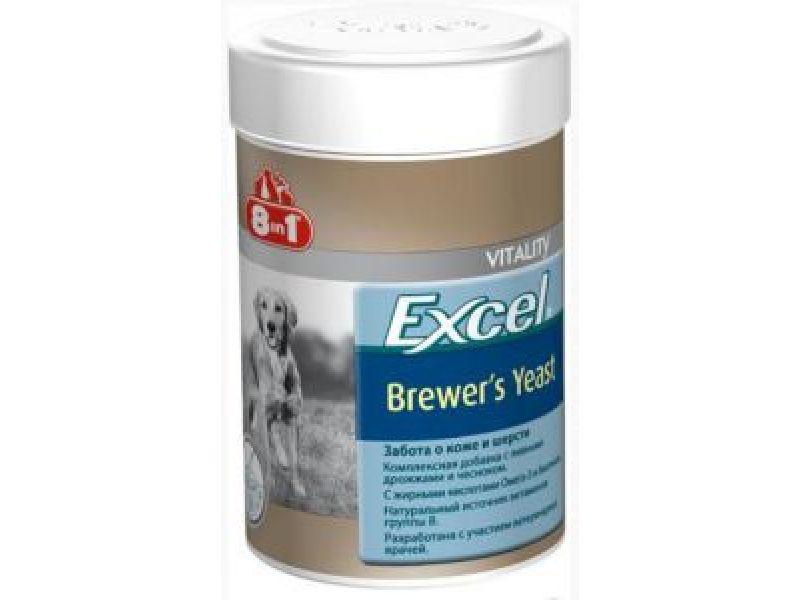 Комплексная добавка 8 в 1 с ПИВНЫМИ ДРОЖЖАМИ & ЧЕСНОКОМ для собак (Excel Brewers Yeast) - Фото