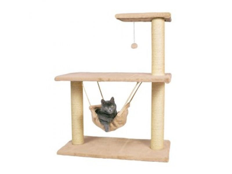 "Trixie Когтеточка для кошки ""Morella"" с гамаком (43961), высота 75*40*96 см - Фото"