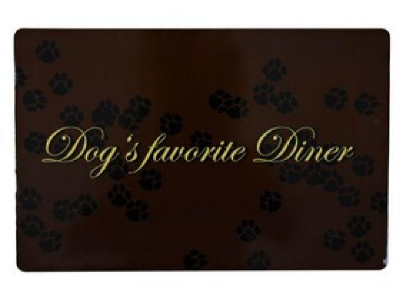 """Коврик под миску Trixie """"Dog's favourite Diner"""" (24548), 44*28 см  - Фото"""