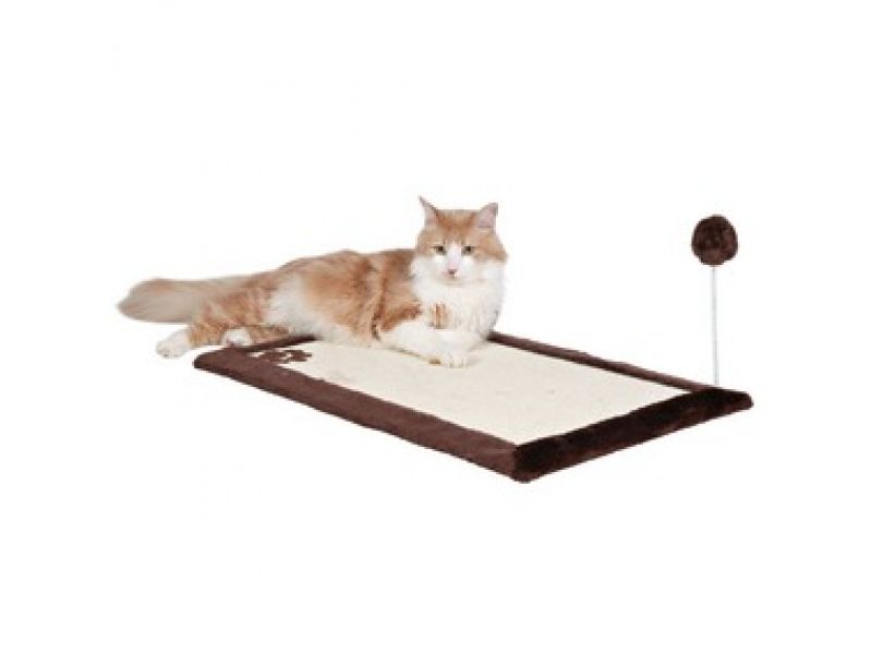 Trixie Когтеточка-коврик на пол и на стену для кошек (4323), сизаль/плюш, 70*45 см  - Фото