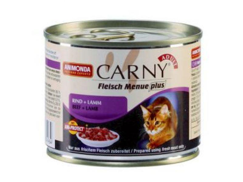 Влажный корм (консервы) Animonda с ГОВЯДИНОЙ и ЯГНЕНКОМ для кошек (Carny Adult) - Фото
