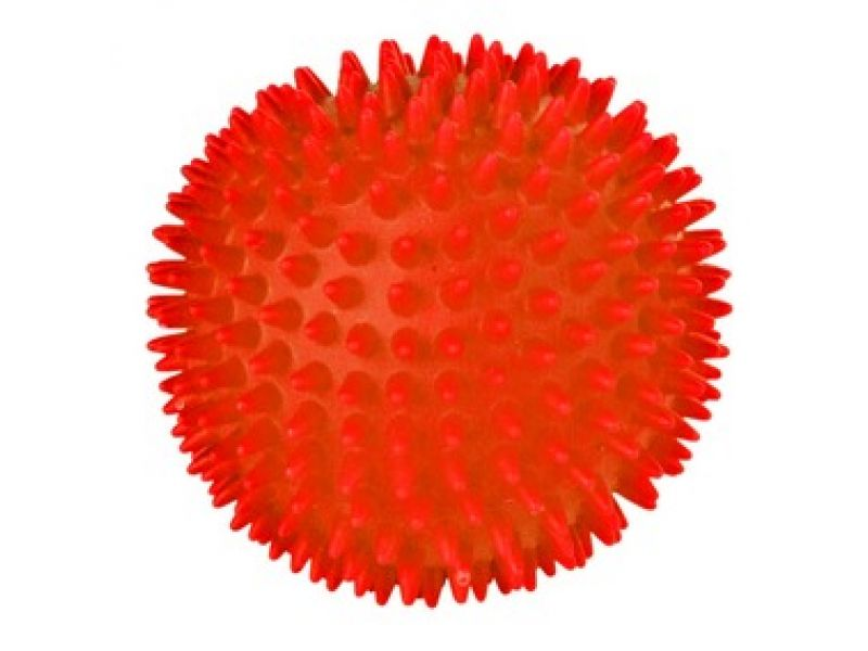 Trixie Мячик игольчатый СО ЗВУКОМ для животных, винил (3414), 7 см    - Фото