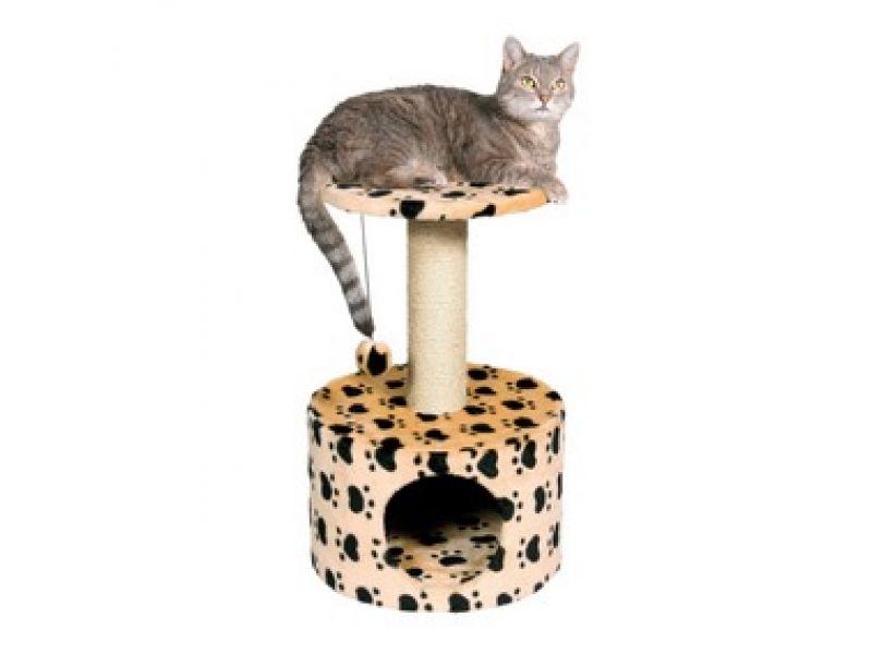 "Trixie Домик для кошки меховой ""Toledo"" (43704/705), 61см  - Фото"