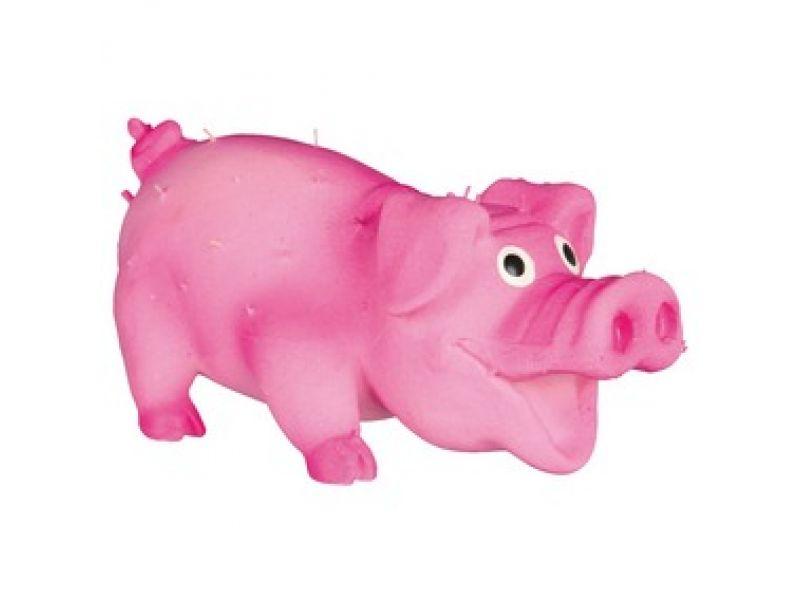 """Trixie Игрушка для собак """"Свинка с щетинкой"""" с пищалкой, латекс (35190), 10 см    - Фото"""