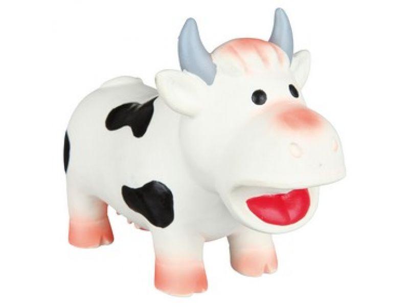 """Trixie Игрушка для собак """"Корова"""" с пищалкой, латекс (35196), 19 см   - Фото"""