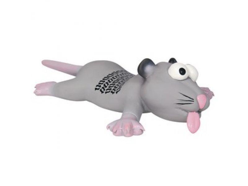 """Trixie Игрушка для собак """"Крыса"""" с пищалкой, латекс (35232), 22 см - Фото"""