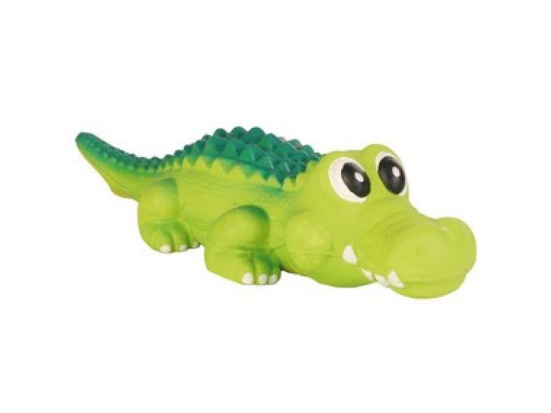 """Trixie Игрушка для собак """"Крокодил"""", с пищалкой, латекс (3529), 35 см - Фото"""