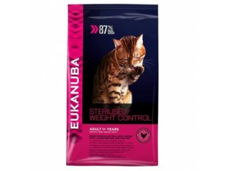 Сухой корм Eukanuba для КАСТРИРОВАННЫХ кошек и кошек с ИЗБЫТОЧНЫМ ВЕСОМ (Adult Sterilized/Weight Control) - Фото