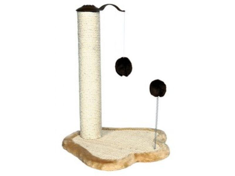 "Trixie Когтеточка для кошек ""Лапка"" со столбиком (4295), 41*38*50 см   - Фото"