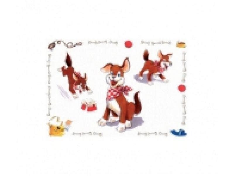 """Коврик под миску Trixie для собак """"Comic Dog"""" (24471), 56*38 см  - Фото"""