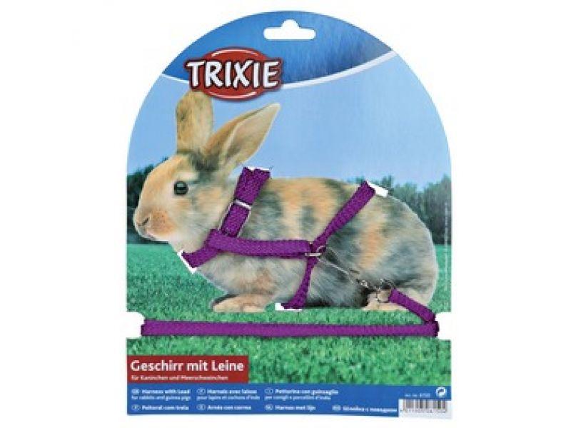 Trixie Шлейка с поводком для кролика (6150), 8 мм/1,30 м  - Фото