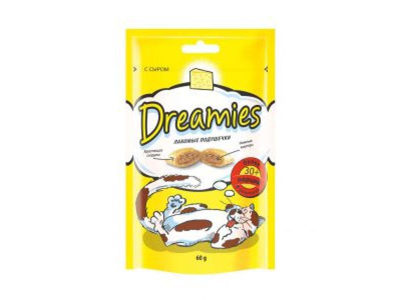 Dreamies Лакомые подушечки с СЫРОМ для кошек - Фото