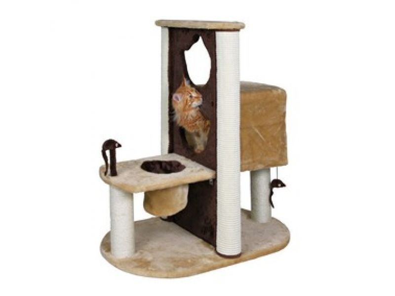 "Trixie Домик для кошки меховой ""Amelia"" (44791), 80*51*93 см   - Фото"