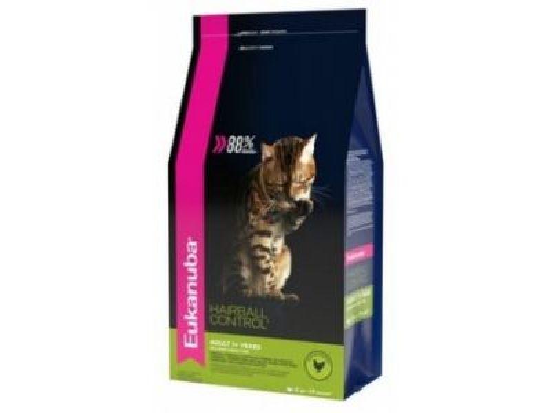 Сухой корм Eukanuba для кошек, редко выходящих на улицу (Adult Hairball Control) - Фото