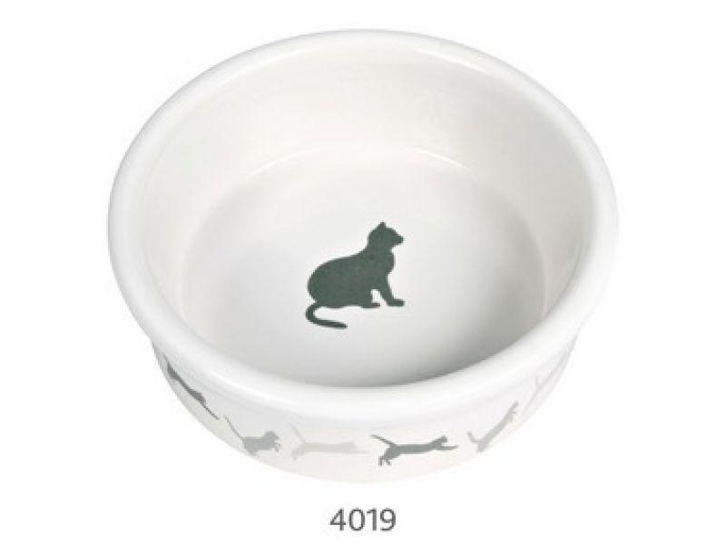 Миска Trixie керамическая для кошек (4019), 11 см, 250 мл  - Фото