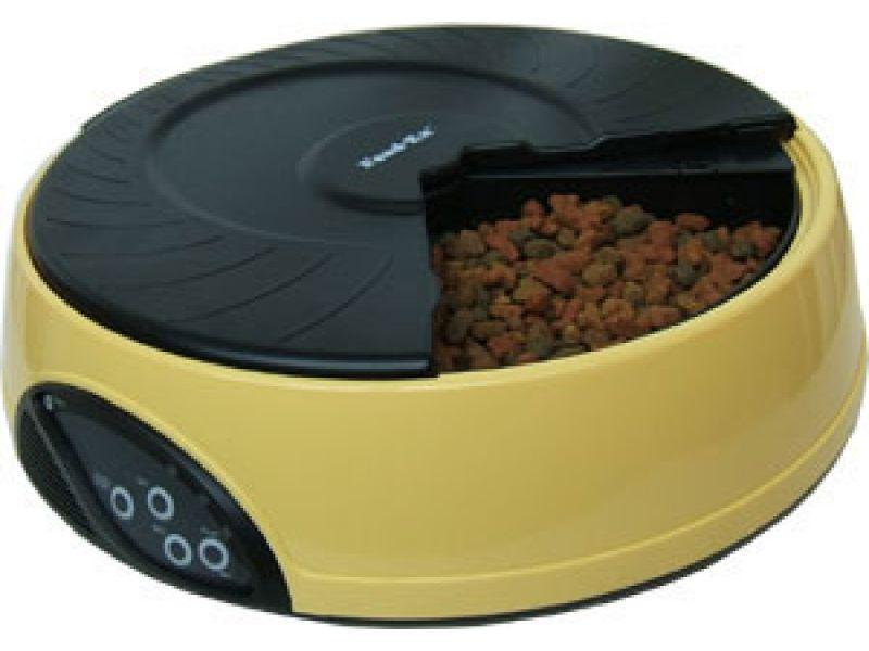 Автокормушка Feedex для кошек и собак с ЖК дисплеем (желтая) PF2Y, 4 кормления - Фото